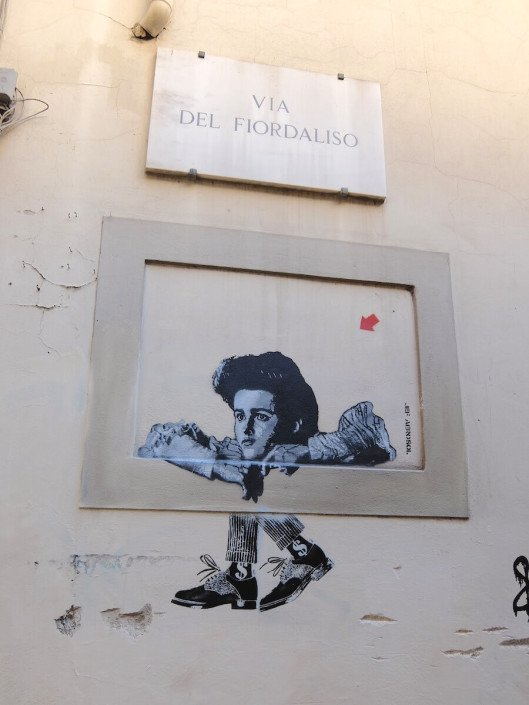 Florence Italy street art - rockabilly