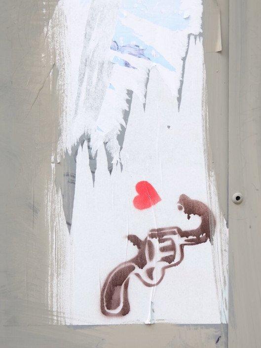 Florence Italy street art shooting love
