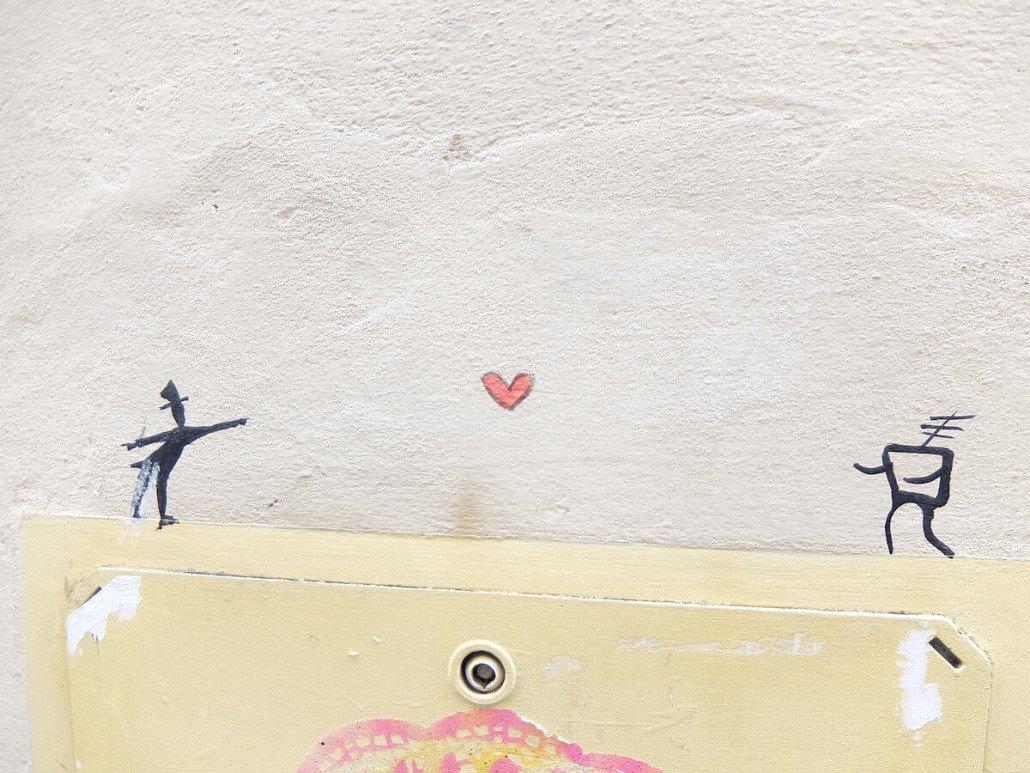 Florence Italy street art sending love