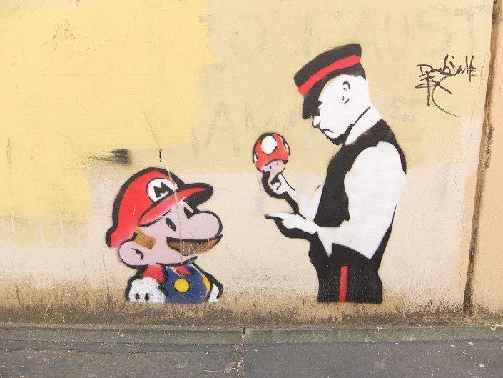 Florence Italy street art mario